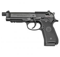 """Beretta 92A1 Full Size Semi-auto DA/SA 9MM Pistol w/ 4.7"""" Threaded Barrel, M14X1RH Thread Pitch, Black Finish, (3)17Rd Mags"""