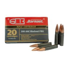 Barnaul Ammo Steel Case .300BLK 145gr FMJ - 20rd Box