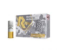 "Rio Buckshot Royal 12ga 2.75"" 21 pellet #4 Buckshot 5rd"