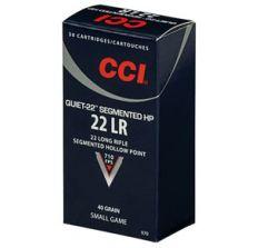 CCI .22LR - CCI 22LR Quiet-22 Segmented HP 40gr 500RD Brick