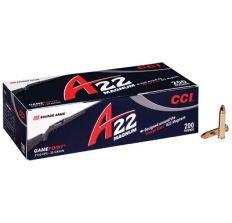 CCI 22WMR 35GR 200RDS A22 MAGNUM GAMEPOINT 22 MAGNUM COPPER PLATED RN