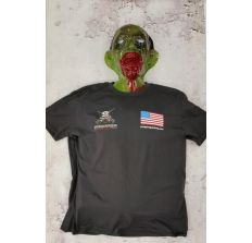 Charcoal Prepper T-Shirt w/ American Flag Size Large