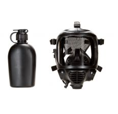 MIRA Safety CM-6M Tactical Gas Mask Includes Pre-installed Hydration System & Canteen Full-Face Respirator for CBRN Defense