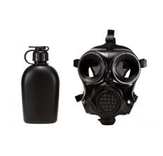 MIRA Safety CM-7M Military Gas Mask - Medium Includes Pre-installed Hydration System & Canteen CBRN Protection Military Special Forces, Police Squads, and Rescue Teams