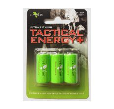 Viridian Lithium Batteries - Viridian Laser Batteries X5L Series CR123 Lithium 1750 mAh Capacity 3 Pack