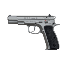 "CZ 75 B Pistol 9mm 4.6"" Barrel Matte Stainless (2) 16rd Mags"
