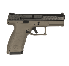 "CZ P-10 C 9mm FDE Grip Black Slide 4"" Barrel Night Sights (2) 15rd Mags"