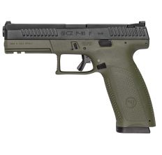 "CZ P-10F P-10 Full Size 9mm 4.5"" OD Green/Black Tritium Night Sights 19rd"