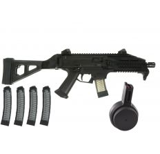 CZ Scorpion Evo 3 S1 Pistol w/folding brace, 4 PGS Mags and a 50 round drum