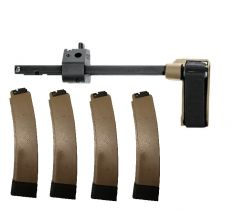SB Tactical CZ Scorpion PDW Brace 3 Position FDE  Plus 4 PGS FDE Mags