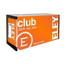Eley Ammo .22LR 40gr Round Nose Club Ammo - 50rd Box