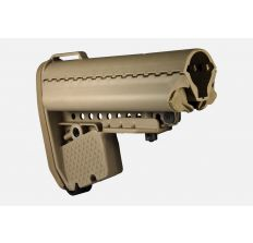 VLTOR EMOD Enhanced Modular Stock - Vltor EMOD Mil-Spec Basic Stock FDE Collapsible AR-15, LR-308 Carbine Synthetic adjustable stock w/ battery storage - Flat Dark Earth AEB-MT