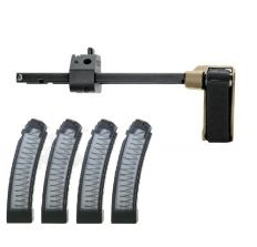 SB Tactical CZ Scorpion PDW Brace 3 Position FDE Plus 4 PGS 32rd Smoke Mags