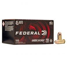 Federal American Eagle Ammo .45ACP 230gr FMJ - 100rd Box