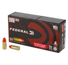 Federal Ammunition Syntech Range 9mm 124gr TSJ Total Synthetic Jacket - 50rd Box