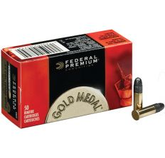 Federal Ammunition Gold Medal.22LR 1200FPS. 40GR. LEAD-RN 50PK