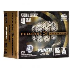 Federal Premium Personal Defense .40S&W 165gr JHP - 20rd Box