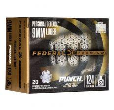 Federal Premium Personal Defense 9mm 124gr PUNCH JHP - 20rd Box
