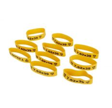 Faxon Firearms Magazine Marker Bands For 7.62x39 Yellow - 10 pack