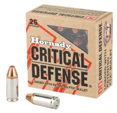 Hornady Critical Defense 9mm 115gr FTX - 25rd Box