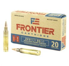 Hornady Frontier Ammunition .223 Remington 55gr HP Match 20rd Box