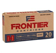 Hornady Frontier Ammunition 5.56 NATO 55gr FMJ M193 20rd Box