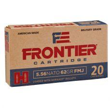 Hornady Frontier Ammunition 5.56 NATO 62gr FMJ 20rd Box