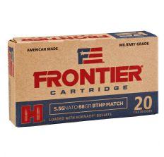 Hornady Frontier Ammunition 5.56 NATO 68gr BTHP 20rd Box