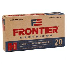 Hornady Frontier Ammunition 5.56 NATO 75gr Boat Tail Hollow Point Match 20rd Box