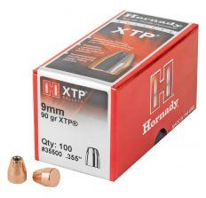 Hornady XTP 9MM .355 90GR Bullets - 100CT