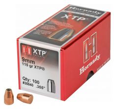 Hornady XTP 9MM .355 115GR Bullets -  100CT