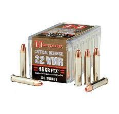 Hornady 22WMR 45gr FTX Critical Defense 50rd