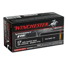 Winchester Ammo Varmint HE .17WSM 25gr V-Max - 50rd Box