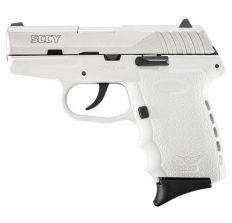 SCCY Pistol CPX2-TT PISTOL DAO 9MM 10RD SS/WHITE W/O SAFETY