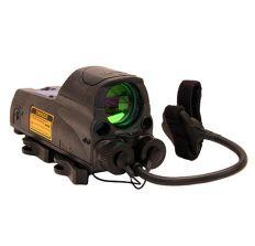 Mepro MOR Multi-Purpose Reflex Sight - Multi-purpose Reflex Sight with Red Laser (5mw) Pointer, w/Quick Release Flat Top Adapter - Bullseye