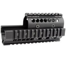 Midwest Industries AK Handguard - AK47/74 QUAD RAIL BLACK MI-AK
