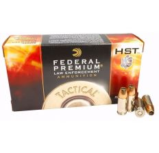 Federal Premium HST LE 9mm Luger JHP Ammo 124 Grain +P Jacketed Hollow Point 50rd box