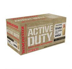 Winchester Active Duty Ammo MI152 9mm 115 Grain Ball - 100rd Box
