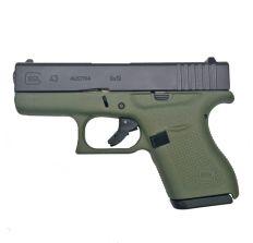Glock 43 Battlefield Green 9mm Pistol 3.39'' barrel (2) 6rd mags PI4350201BFG