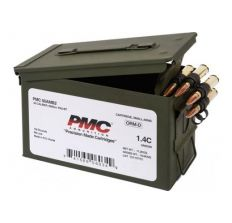 PMC Bronze Rifle Ammunition .50 BMG 660 Grain FMJ-BT 100rd Linked Ammo Can