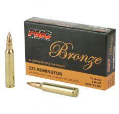 PMC Bronze .223 Remington Rifle Ammo - 55 Grain FMJ-BT 20rd
