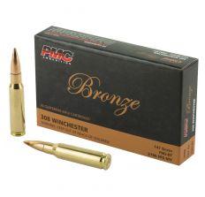 PMC Bronze .308 Winchester Rifle Ammo - 147 Grain FMJ-BT 20rd Box