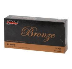 PMC Bronze Pistol Ammunition .45 ACP 185 Grain JHP Jacketed Hollow Point 50rd Box