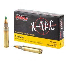 PMC X-TAC 5.56NATO Green Tip Rifle Ammo - 62 Grain LAP 20rd Box