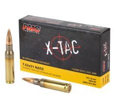 PMC Bronze 7.62x51 NATO Rifle Ammo - 147 Grain FMJ-BT 20rd Box