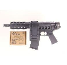 "Diamondback DB15 AR15 Pistol 5.56NATO 7.5"" Black w/ installed Gen 3-M LAW folding adapter & Sig SBX brace (1) 30rd mag DB15PB7"
