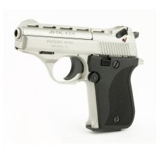 Phoenix HP25A, 25 ACP, Nickel Finish, Plastic Grips, Fixed Sights, 9rd