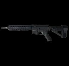 "R Guns TRR15 Forged AR15 Pistol - Black 5.56NATO 10.75"" Barrel 10"" Quad Rail YHM Phantom Flash Suppressor & SBA4 Arm Brace"
