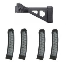 SB Tactical SBT Scorpion Folding Arm Brace w/ 4 Manticore Arms PGS 32rd Scorpion Mags
