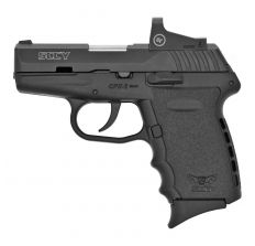 "SCCY CPX-2 Compact 9mm Pistol w/ 3.1"" Barrel, Red Dot Sight & (2)10Rd Mags - Black Finish"